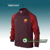 Achat de Veste Foot AS Rome Rouge/Marron 2016 2017