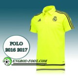 Authentique Maillot de Polo Real Madrid Foot Jaune 2016 2017