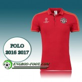 Champions League Maillot de Polo Manchester United Rouge 2016 2017 Remise prix