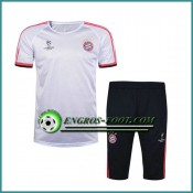 Champions League T Shirt Bayern Munich Blanc Kit 2016 2017 & Pantalon 3/4 Promo Prix Paris