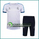 Champions League T Shirt Real Madrid Blanc Kit 2016 2017 & Pantalon 3/4 Réduction Prix