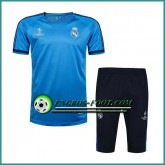 Champions League T Shirt Real Madrid Bleu Kit 2016 2017 & Pantalon 3/4 Promotions