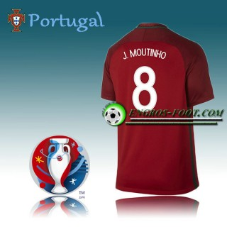 Collection Maillot Euro 2016 Foot Portugal Domicile - J.MOUTINHO 8 Soldes