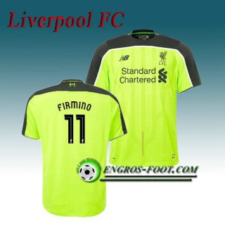 Collection Maillot de Liverpool FC FIRMINO 11 Third 2016 2017 Vert Soldes