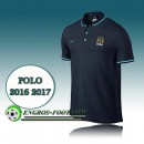Collection Maillot de Polo Manchester City Foot Bleu Marine 2016 2017 Soldes