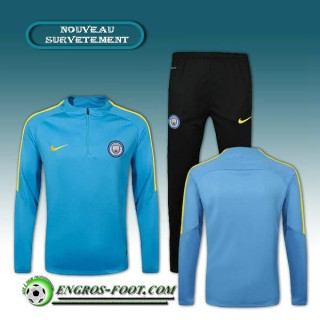 En ligne Survetement Foot Manchester City Bleu 2016 2017