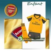 Ensemble Maillot Foot Arsenal Enfant Exterieur 2016 2017 Jaune Rabais Paris