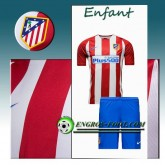 Ensemble Maillot Foot Atletico Madrid Enfant Domicile 2016 2017 Rouge/Blanc Boutique Paris
