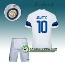 Ensemble Maillot Foot Inter Milan Enfant JOVETIC 10 Exterieur 2016 2017 Blanc Original