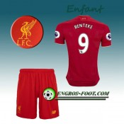 Ensemble Maillot Foot Liverpool Enfant BENTEKE 9 Domicile 2016 2017 Rouge Boutique France