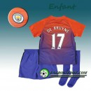Ensemble Maillot Foot Manchester City Enfant DE BRUYNE 17 Third 2016 2017 Orange/Pourpre Bonnes Affaires