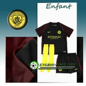 Ensemble Maillot Foot Manchester City Enfant Exterieur 2016 2017 Noir Europe