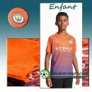 Ensemble Maillot Foot Manchester City Enfant Third 2016 2017 Orange/Pourpre Rabais Paris