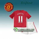 Ensemble Maillot Foot Manchester United Enfant MARTIAL 11 Domicile 2016 2017 Rouge Magasin Lyon