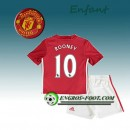 Ensemble Maillot Foot Manchester United Enfant ROONEY 10 Domicile 2016 2017 Rouge Site Francais