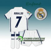 Ensemble Maillot Foot Real Madrid Enfant RONALDO 7 Domicile 2016 2017 Blanc Boutique France