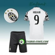 France Ensemble Maillot Foot Juventus Enfant HIGUAIN 9 Third 2016 2017 Blanc