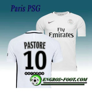 France Maillot de Paris PSG PASTORE 10 Third 2016 2017 Blanc