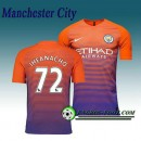 La Boutique Officielle Maillot de Manchester City FC IHEANACHO 72 Third 2016 2017 Orange/Pourpre
