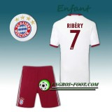 Magasin Ensemble Maillot Foot FC Bayern Enfant RIBERY 7 Third 2016 2017 Gris Paris
