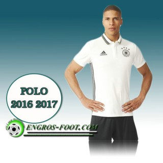 Magasin Maillot Polo Equipe de Allemagne Foot Blanc 2016 2017 Paris