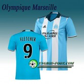 Magasin Maillot de Olympique de Marseille OM FLETCHER 9 Third 2016 2017 Bleu Paris