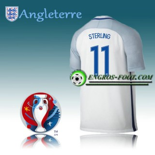 Maillot Euro 2016 Foot Angleterre Domicile - STERLING 11 à Petits Prix