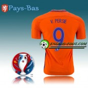 Maillot Euro 2016 Foot Pays-Bas Domicile - V.PERSIE 9 Prix France