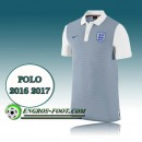 Maillot Polo Equipe de Angleterre Foot Blanc&Gris 2016 2017 Boutique