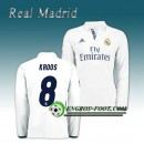 Maillot Real Madrid Manche Longue KROOS 8 Domicile 2016 2017 Blanc Magasin Paris