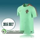 Maillot Training Equipe de Portugal Vert PRE-MATCH 2016 2017 Boutique Paris