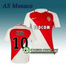 Maillot de AS Monaco SILVA 10 Domicile 2016 2017 Rouge/Blanc Bonnes Affaires