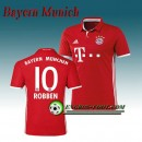 Maillot de FC Bayern Munich ROBBEN 10 Domicile 2016 2017 Rouge Site Officiel France