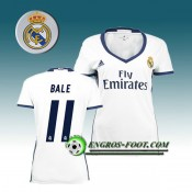 Maillot de Foot FC Real Madrid Femme BALE 11 Domicile 2016 2017 Blanc Boutique Paris