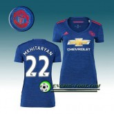 Maillot de Foot Manchester United Femme Mkhitaryan 22 Exterieur 2016 2017 Bleu Pas Cher Marseille