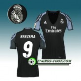 Maillot de Foot Real Madrid Femme BENZEMA 9 Third 2016 2017 Blanc Pas Chere