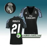 Maillot de Foot Real Madrid Femme MORATA 21 Third 2016 2017 Blanc Paris