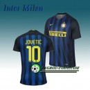 Maillot de Inter Milan JOVETIC 10 Domicile 2016 2017 Bleu/Noir Site Officiel