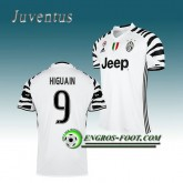 Maillot de Juventus HIGUAIN 9 Third 2016 2017 Blanc Réduction Prix