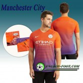 Maillot de Manchester City FC Third 2016 2017 Orange/Pourpre Réduction
