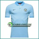 Maillot de Polo Manchester City Bleu 2016 2017 Vendre France