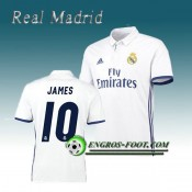 Maillot de Real Madrid JAMES 10 Domicile 2016 2017 Blanc Soldes France