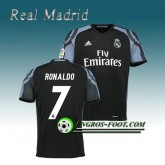 Maillot de Real Madrid RONALDO 7 Third 2016 2017 Noir Bonnes Affaires