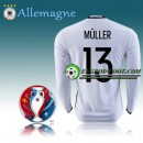 Mode Maillot Euro 2016 Foot Allemagne Manche Longue Domicile - MULLER 13