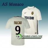 Nouvelle Collection Maillot de AS Monaco FALCAO 9 Exterieur 2016 2017 Blanc