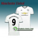 Nouvelle Collection Maillot de Manchester United FC Ibrahimovic 9 Third 2016 2017 Blanc