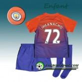 Paris Ensemble Maillot Foot Manchester City Enfant IHEANACHO 72 Third 2016 2017 Orange/Pourpre