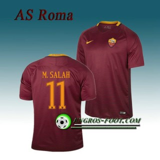 Paris Maillot de AS Roma M.SALAH 11 Domicile 2016 2017 Rouge Sombre