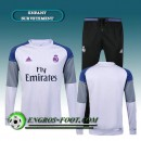 Paris Survetement foot Enfant Real Madrid Blanc/Gris 2016 2017
