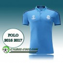 Prix Champions League Maillot de Polo Real Madrid Bleu 2016 2017